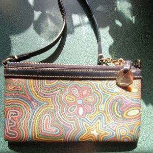 Dooney and bourke multicolored wristlet